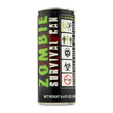 Zombie Survival Can Energy Drink 8.4 Ounce Cans Case of 24 SEALED UNOPENED