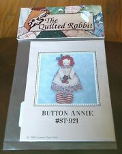 New In Package The Quilted Rabbit Pattern Button Annie
