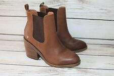 WINDSOR SMITH Brand Western Brown Leather Ankle Boots Size 7