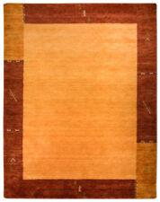 Tapis jaune à motif Bordé pour la maison en 100% laine