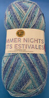 Lion Brand Summer Nights Bonus Bundle; Cast Away (Blue), Super Fine Wt; 875 Yds