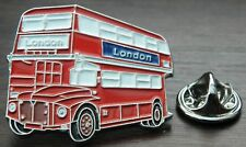 LONDON RED BUS LAPEL HAT CAP TIE PIN BADGE UK ENGLAND UNITED KINGDOM SOUVENIR