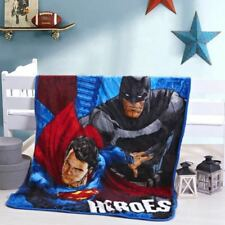 Kids Soft Mink Blanket Flannel Fabric 1x1.4 Meter Super Heros Batman vs Superman