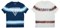Guess Tie Dye Striped Print With Logo Short Sleeve Crew Neck T-Shirt NWT