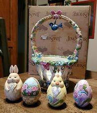 Jim Shore Enesco Basket Of Surprises Easter Basket + Eggs 2012 L@K