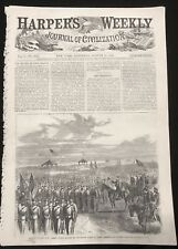 1866 newspaper Front Page Engraving New Jersey State Militia post Civil War