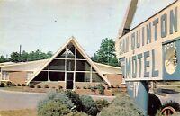 Dalton Georgia 1965 Postcard San Quinton Motel Sign