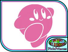Kirby Nintendo P Vinyl Sticker Poster Wall Art Laptop Console Car Window Decal