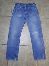 VTG Lee Jeans Denim Med Wash Blue Color leather tag USA Made 32x32 Meas 29x31