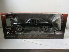 1/18 SCALE HIGHWAY 61 TRIPLE BLACK 1966 PONTIAC GTO 3 X 2BBL