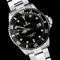 New Mirvaine Divers Analog WATCH With Black Face Quartz Ladies Christmas Gift