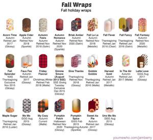 Jamberry Holiday Nail Wraps - FALL Half Sheets