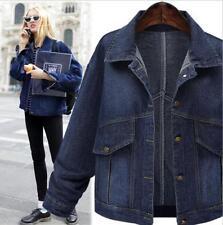 womens navy blue denim jacket short coat outwear denim jeans jacket coat
