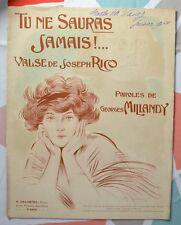 Valse Joseph Rico - Tu ne sauras Jamais !.. - Illustration Henri Armengol - 1910