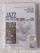 JAZZ ON THE LIVE SIDE - VOL. 5 - DVD, REGION-ALL, NEW, FREE POST IN AUSTRALIA