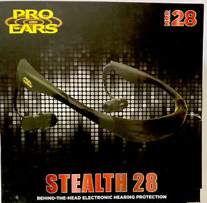 PRO EARS STEALTH 28 Behind-The-Head Electronic Hearing Protection, Green, NRR28