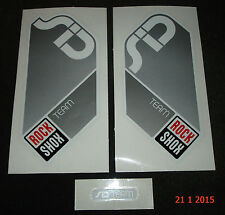 AUTHENTIC ROCKSHOX SID TEAM SILVER FORK STICKERS / DECALS #1 ROCK SHOX AUFKLEBER
