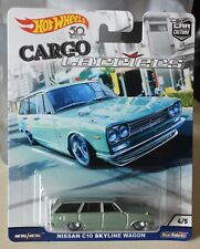 Hot Wheels Car Culture Cargo Carriers Nissan C10 Skyline Wagon Real Riders