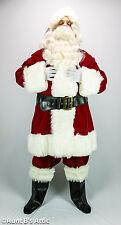 Santa Claus Suit Deluxe Burgundy Velveteen 6 Pc Coat Pt. Hat Boot Tops Belt XXL