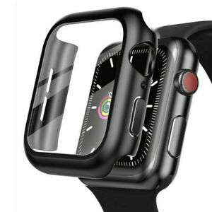 Tempered Glass+ Protector Cover Case For Apple Watch Series 6 5 4 SE 38/40/42/44