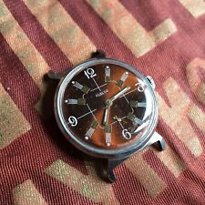 Vintage Russian USSR ☭ ZIM POBEDA 2602 Men Watch Very Cool Dial for Parts 1950