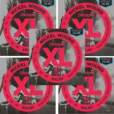5-Sets D'Addario EXL157 Nickel Wound, Baritone Medium, 14-68 Guitar Strings