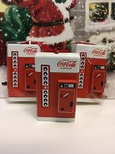 Coca-Cola Christmas Tree Collectable Decoration- Coca-Cola Vending Machine x3