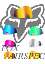 REPLACEMENT Goggle LENS for Fox Airspec / Airspace MOTOCROSS Mirror tinted Clear