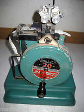 Vintage Monarch 20 Dial-a-Pricer, Needs new ink, hand driven, w/labels