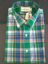 NWT Duck Head Plaid Madras Button Down Shirt Medium Slim USA MSRP $98