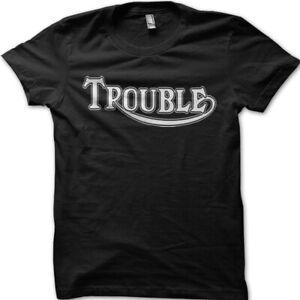 Trouble Triumph Parody Motorcycle Biker printed t-shirt 9070