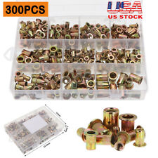 300150pcs Zinc Steel Rivet Nut Kit Rivnut Insert Nutsert Assort Metric Sae Us