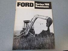 Ford 765 Backhoes Brochure                  lw