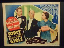 Forty Naughty Girls Hildegarde Withers 1937 Lobby Card Zasu Pitts James Gleason