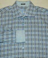 Bugatchi Uomo Flip Cuff Button Front Shirt Mens XXL Classic Fit