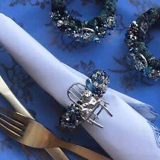 Napkin ring set of 12  Cheshire Cat Serviette holder Diner decor  Handmade