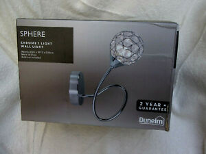 New & Boxed Dunelm Chrome Wall Light