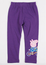 NEW with tags BNWT girls purple Peppa pig leggings pants size 4