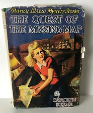 Nancy Drew THE QUEST FOR THE MISSING MAP Vintage Hardcover Partial Jacket