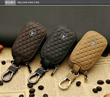 Leather Car Key Protection Bag Car Key Holder Keychain Ring Case Fit for Acura