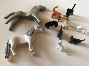 Playmobil Tiere, Katzen, Pferde