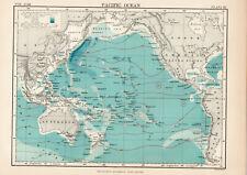 Antique Map Of Pacific Ocean   1880