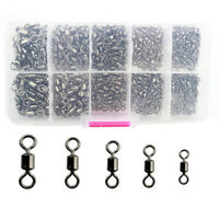 Fishing Swivel Snap Connector Quick Change Hook Clip Rolling Oval Ring Link 30pc
