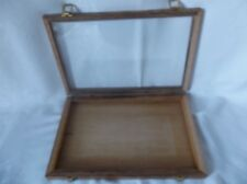 Oak Wood Display Case 12 x 18 x 2  for Arrowheads Knives Collectibles Coins