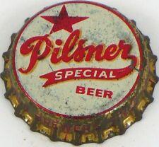 V1 1950s ILLINOIS Peru STAR PILSNER BEER Cork Crown Tavern Trove w