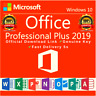 Microsoft Office 2019 Professional Plus 32/64 bits Clé licence D'Activation