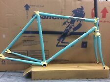 Lugged track frame&fork,Headset Bianchi Pista Classica  51cm.
