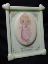 """1991 Precious Moments Plaque w/stand """"May Your Birthday be a Blessing"""""""