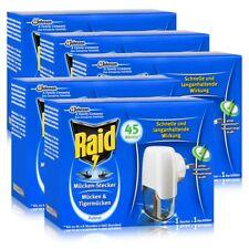 5x Raid Mücken Stecker inkl. Nachfüller für ca. 45 Nächte Mückenfrei