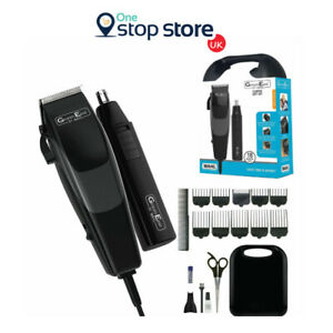Wahl Men Hair Clipper Nose Ear Corded Trimmer 18 Piece Grooming Gift Set - 79449